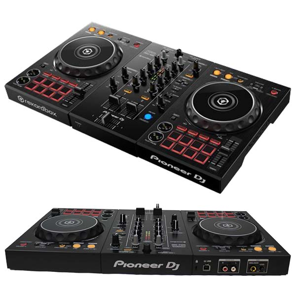 setup of dj mixer